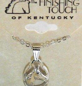 Horse Head Horseshoe Necklace