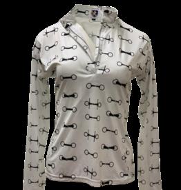 Royal Highness Sun Zip Mock Neck Shirt w/Bits