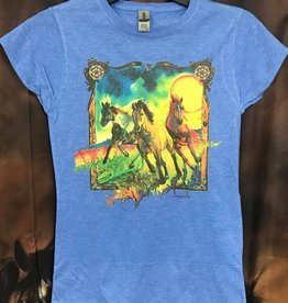 Colorful Running Horses Tee