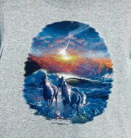 Child's T-Shirt Horses running in water