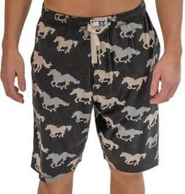 lazy One Stampede Men's Horse Pajama Shorts