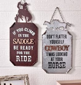 Cowboy Design Wall Signs, 2 Asst.