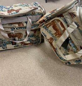 Horse Print Tapestry Duffle Bag