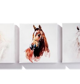 Giftcraft Canvas Print set of 3 horses