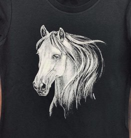 Adult T-Shirt with horse head design