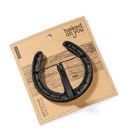 Hooked on You Horseshoe hooks