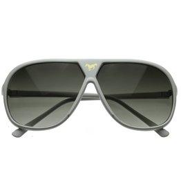 ZeroUv Retro Oversize Gold Horse Emblem Aviator Sunglasses
