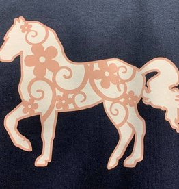 Adult T Shirt with floral horse design