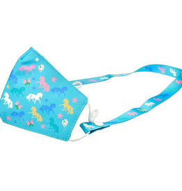 Ponies Kids Face Mask with Lanyard