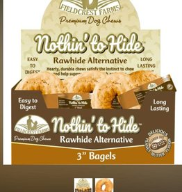 Nothin' to Hide Rawhide Alternative Bagels for Dogs