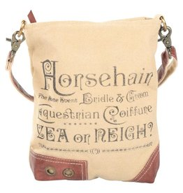 Horsehair Leather Trim Shoulder Bag