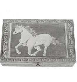 Horse Tin Jewelry Box