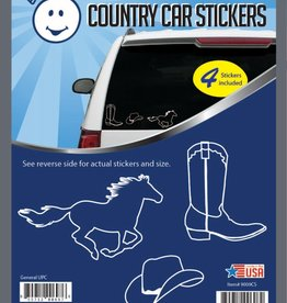 Country Car Stickers - set of 4