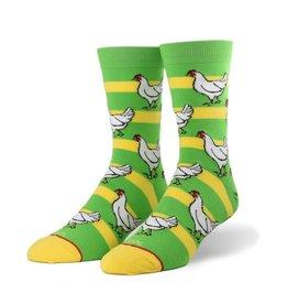Odd Socks Unisex Chicken Crew Socks
