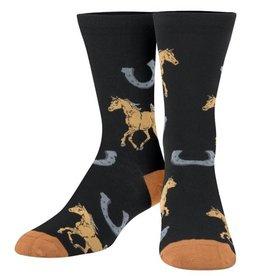 Odd Socks Women's Crew Socks horse and shoe