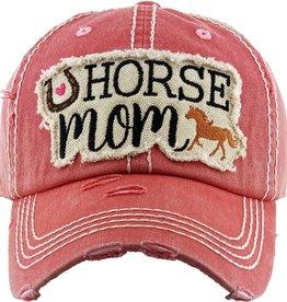"""Cap, """"Horse Mom"""" , Pink"""