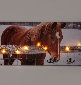 LED Canvas Horse Print w/Timer and Hooks