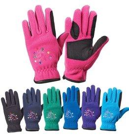 Ovation Horse N Heart Fleece Gloves- Child's