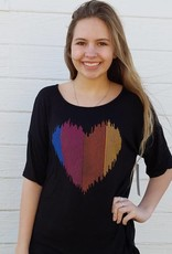 Heart Monitor Criss Cross Back SS T-Shirt