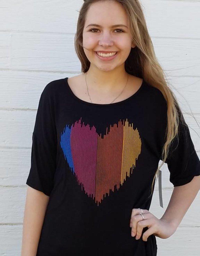 c13e4bac Heart Monitor Criss Cross Back SS T-Shirt - Texas Blessings Boutique