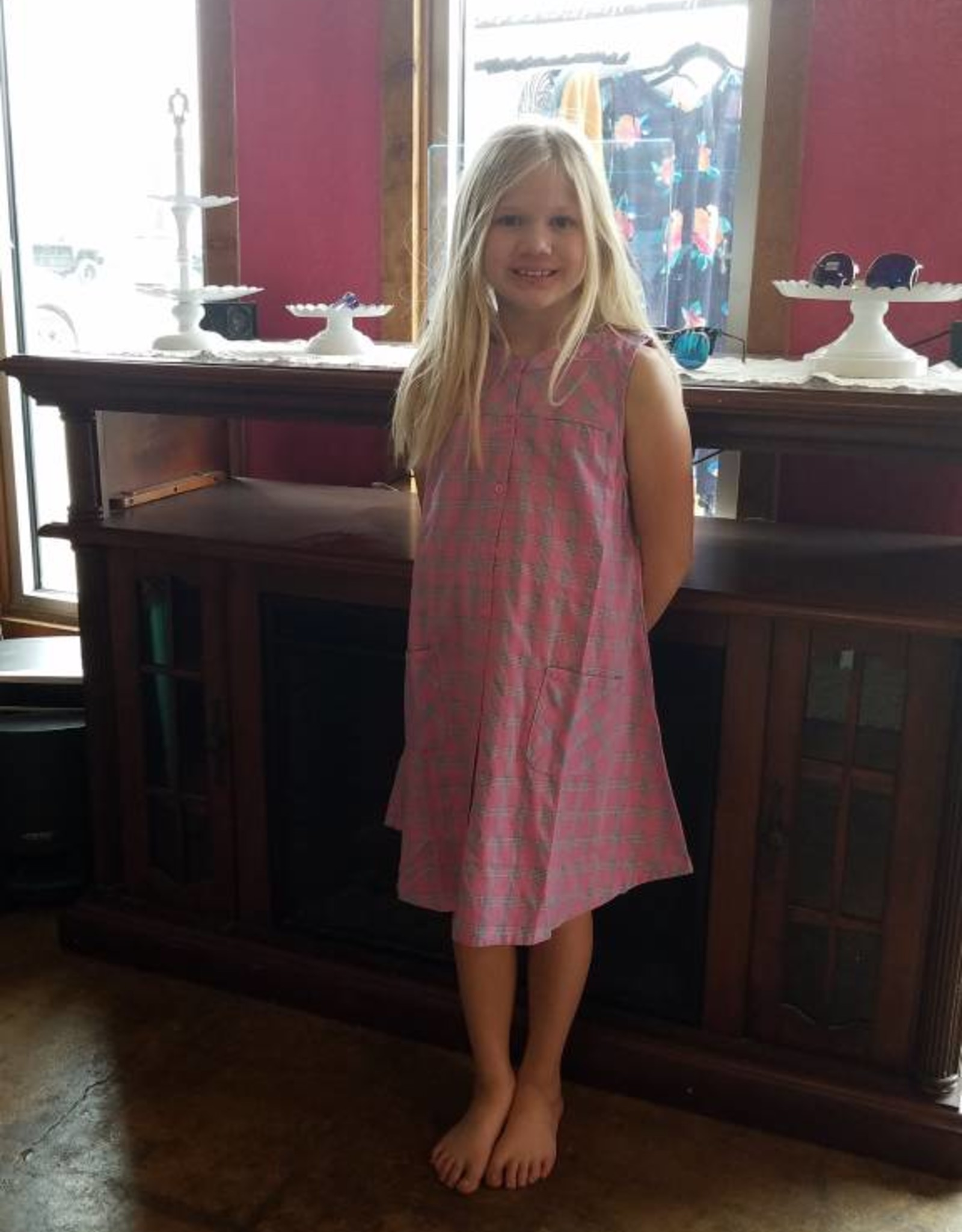 Kids Plaid Tank Dress