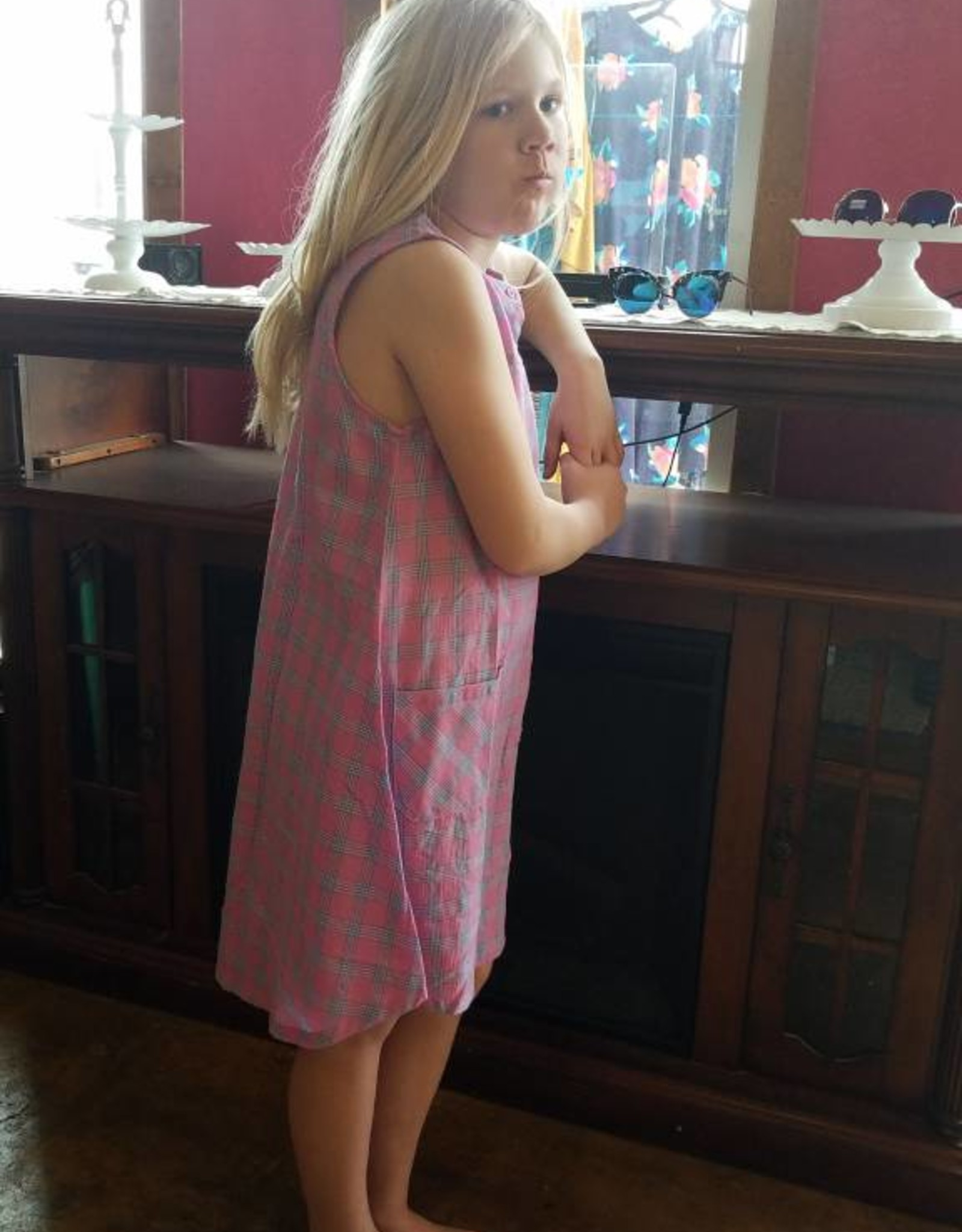 Kids Plaid Tank Dress