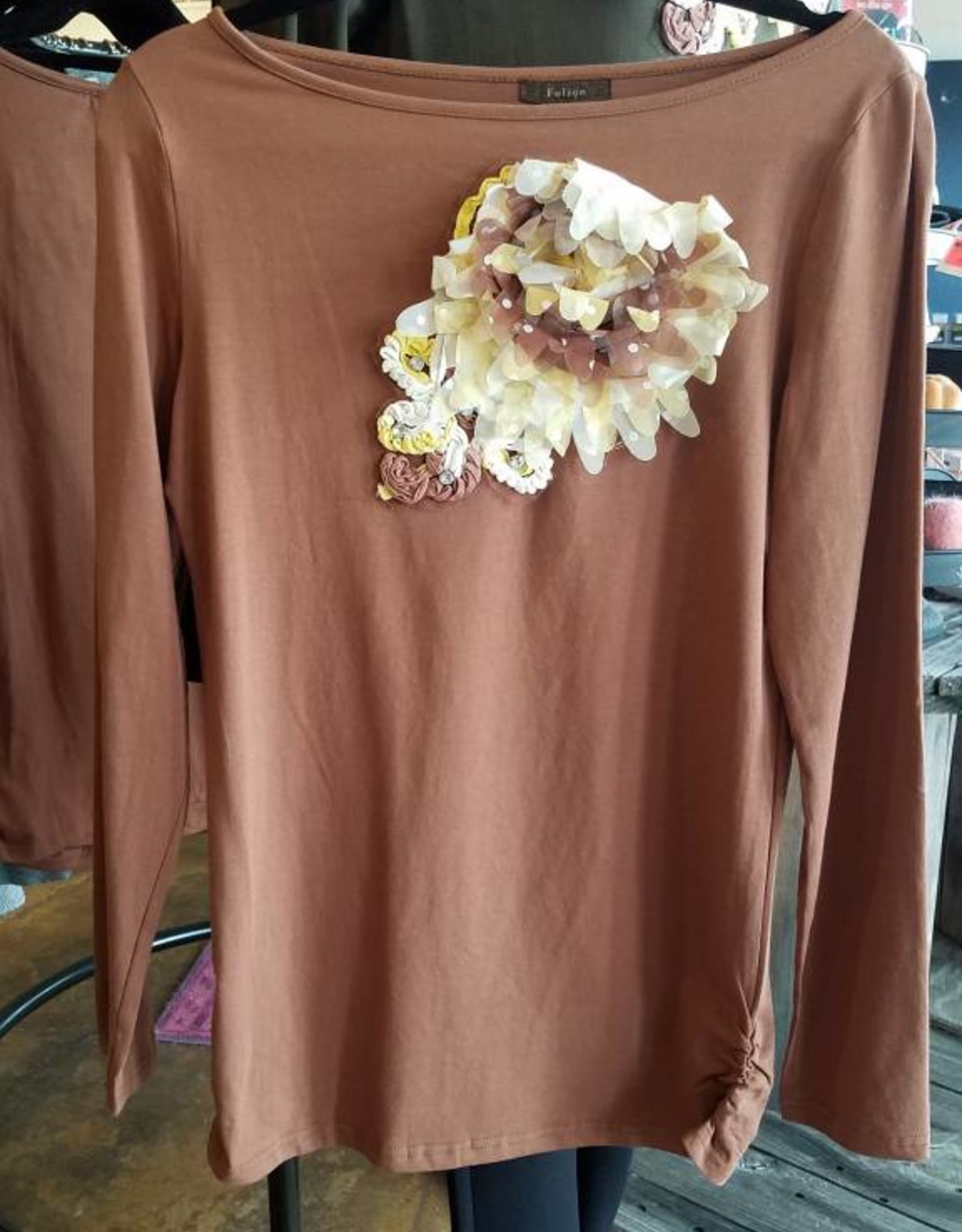 Flower Detail LS Top