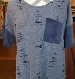 143 SS Distressed Top With Pocket