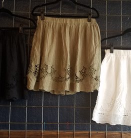 Mur Mur Crochet Lace Embroidered Skirt