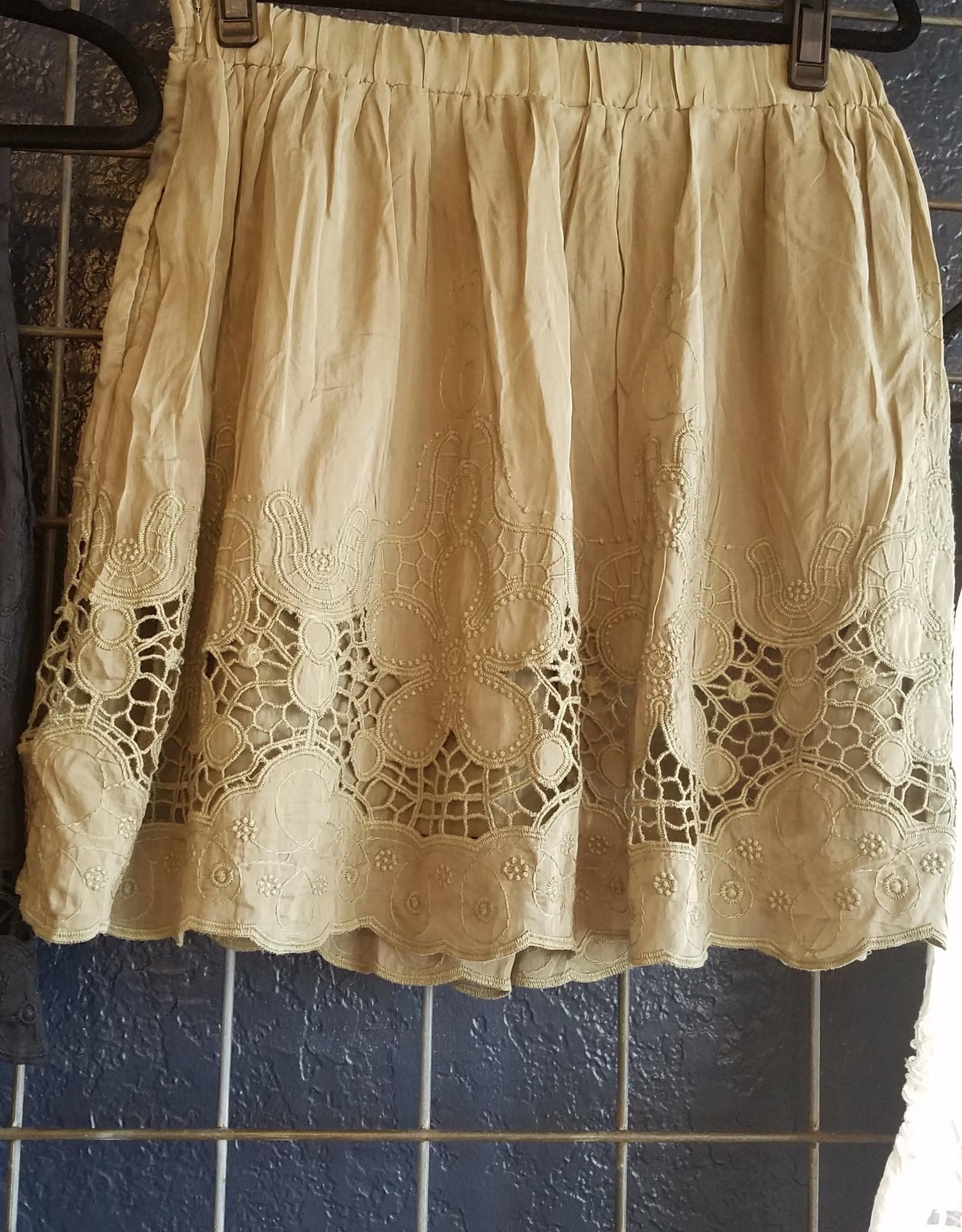 Mur Mur Crochet Lace Embroidered Skirt