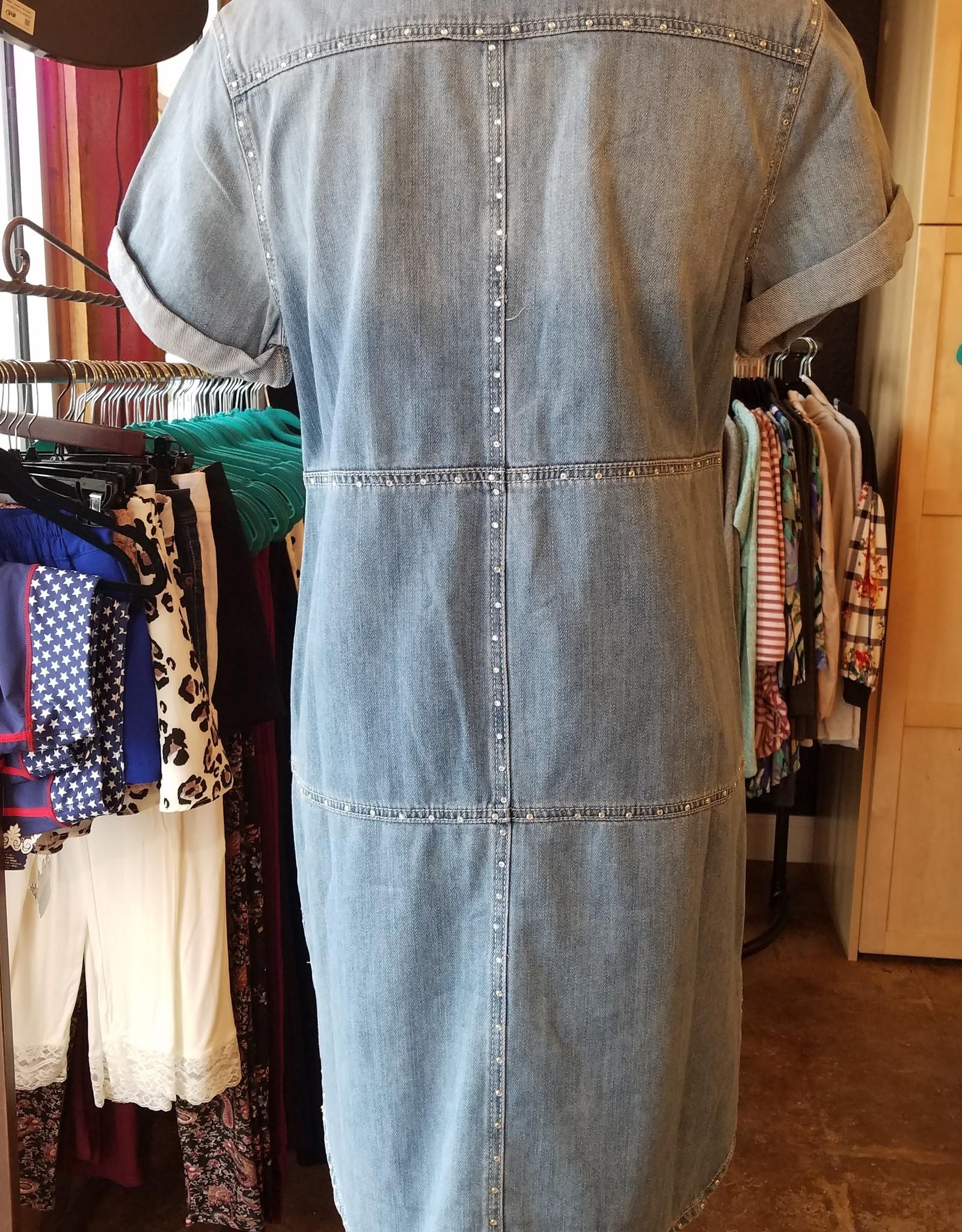 Fat Rat SS Denim and Diamonds Jean Dress