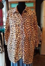 Fat Rat Silky Leopard Button Up Blouse