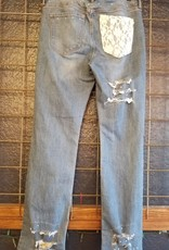 Bootcut Distressed Lace Jeans