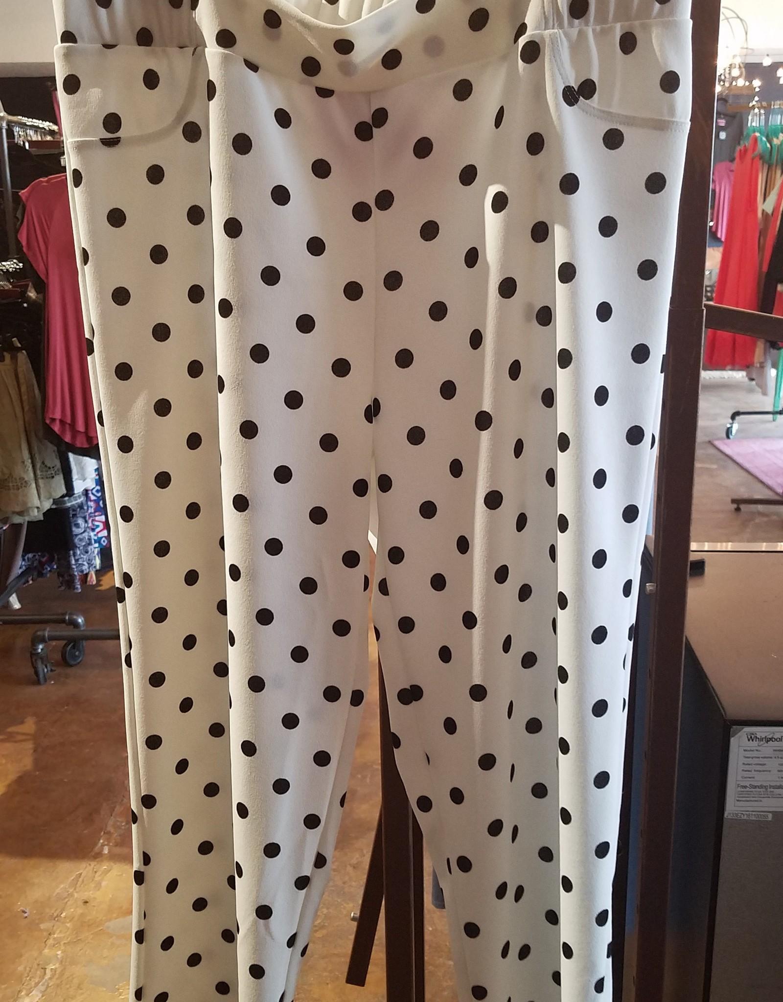 Spin Plus Size Polka Dot Crop Pants