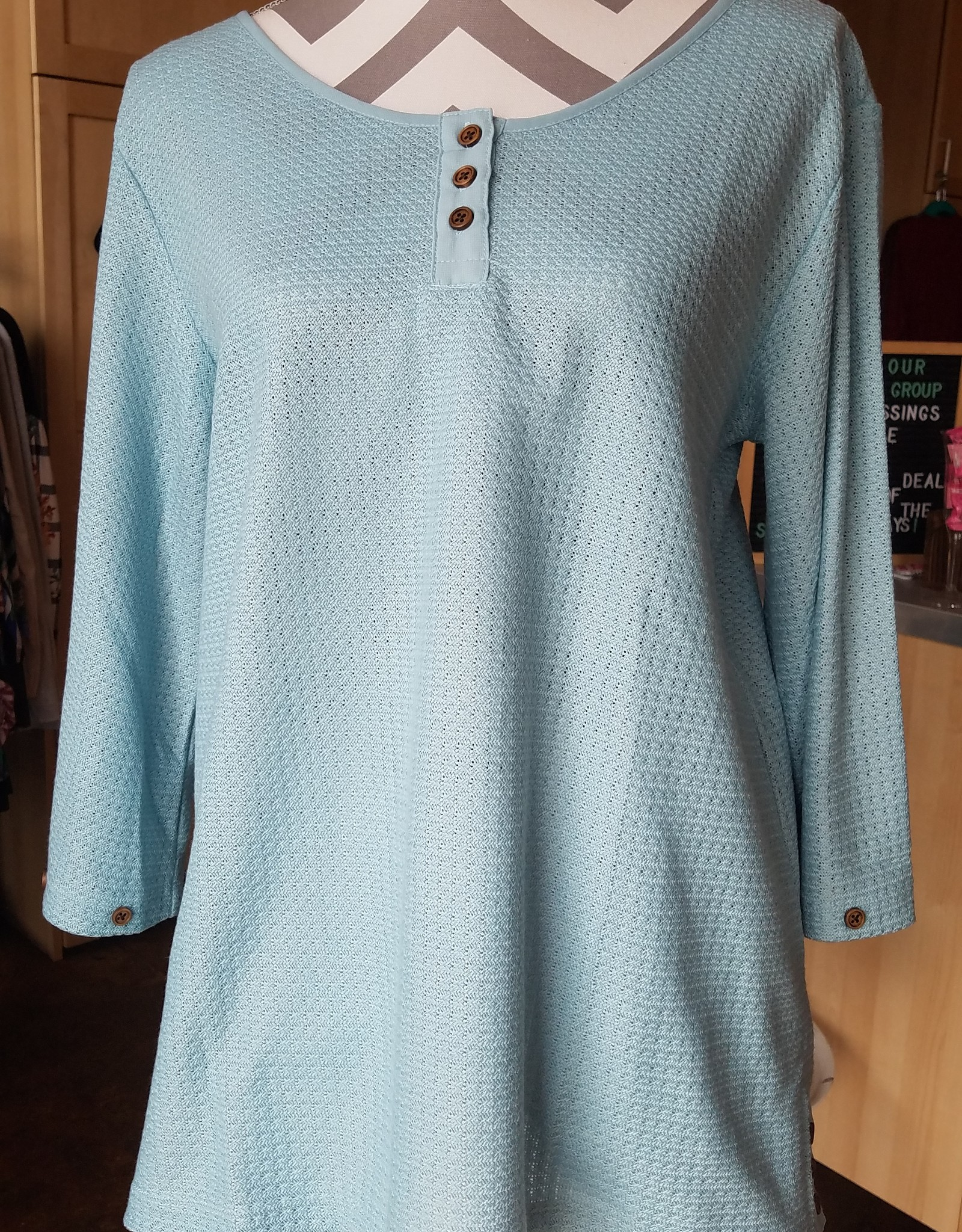 Simply Noelle Twill Weave Tunic Top