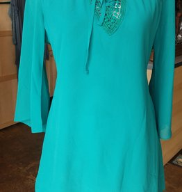 Monoreno Layered Chiffon Dress/ Tunic Top