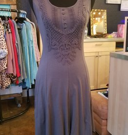 Monoreno Sleeveless Handkerchief Knit Dress