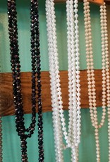 Trendy Faceted Bead Necklace 60 in
