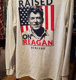 Burlebo Long Sleeve T-Shirt Raised on Reagan