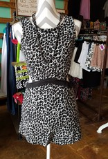 Depri Animal Print Romper With Open Sides