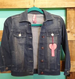 Pink Latte Girls Basic Wash Denim Jacket