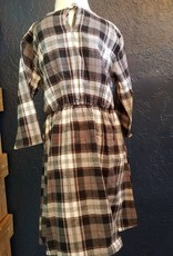 Flannel Dress With Front Tie