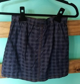 Girls Ruffle Detailed Plaid Skirt