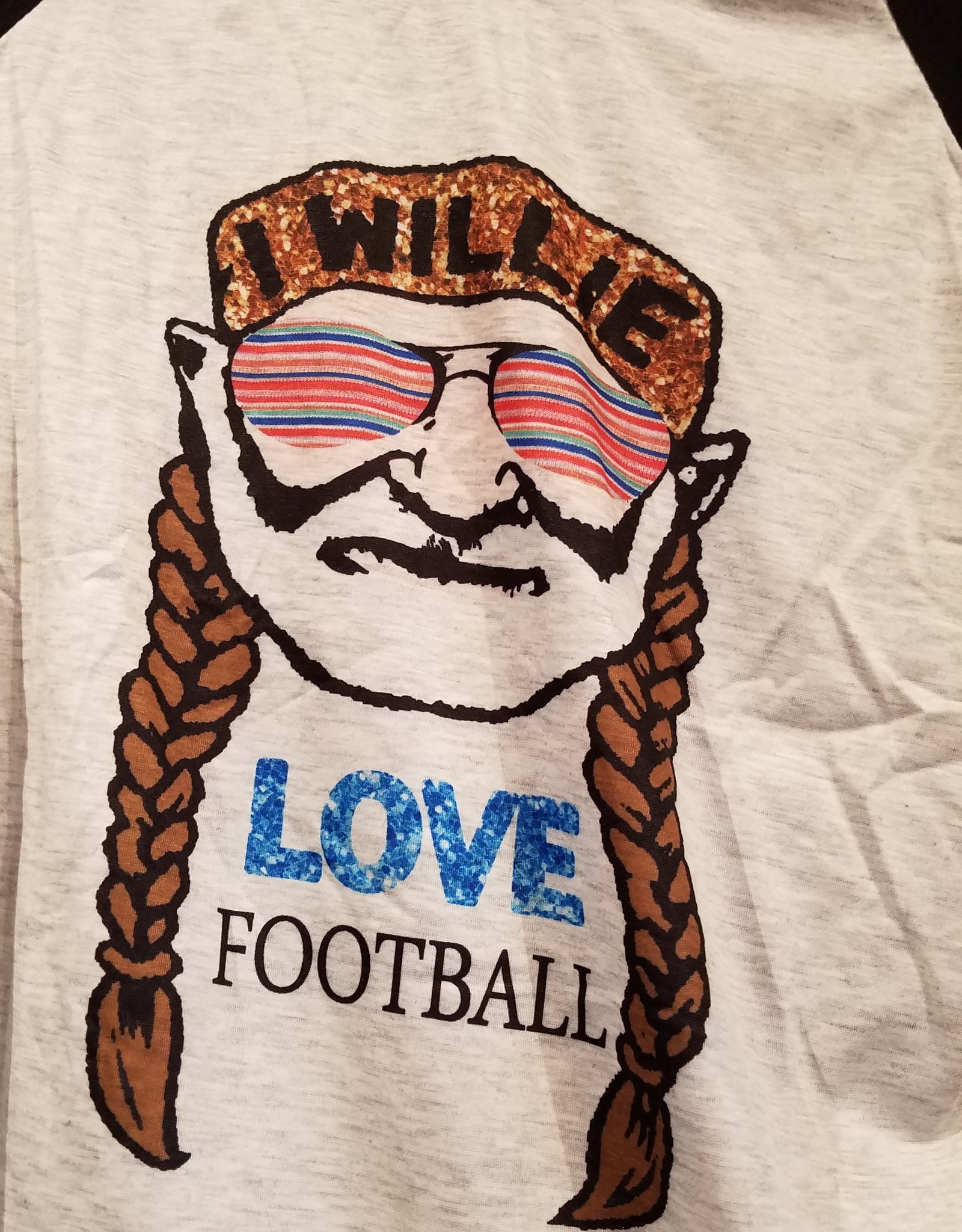 Airygal Willie Love Footbal Raglan T