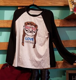 Airygal Willie Love Footbal Raglan T