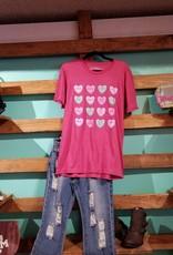 Texas Hearts SS T-SHIRT