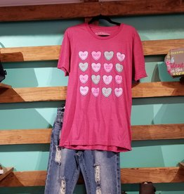 Texas Hearts SS T-SHIRT