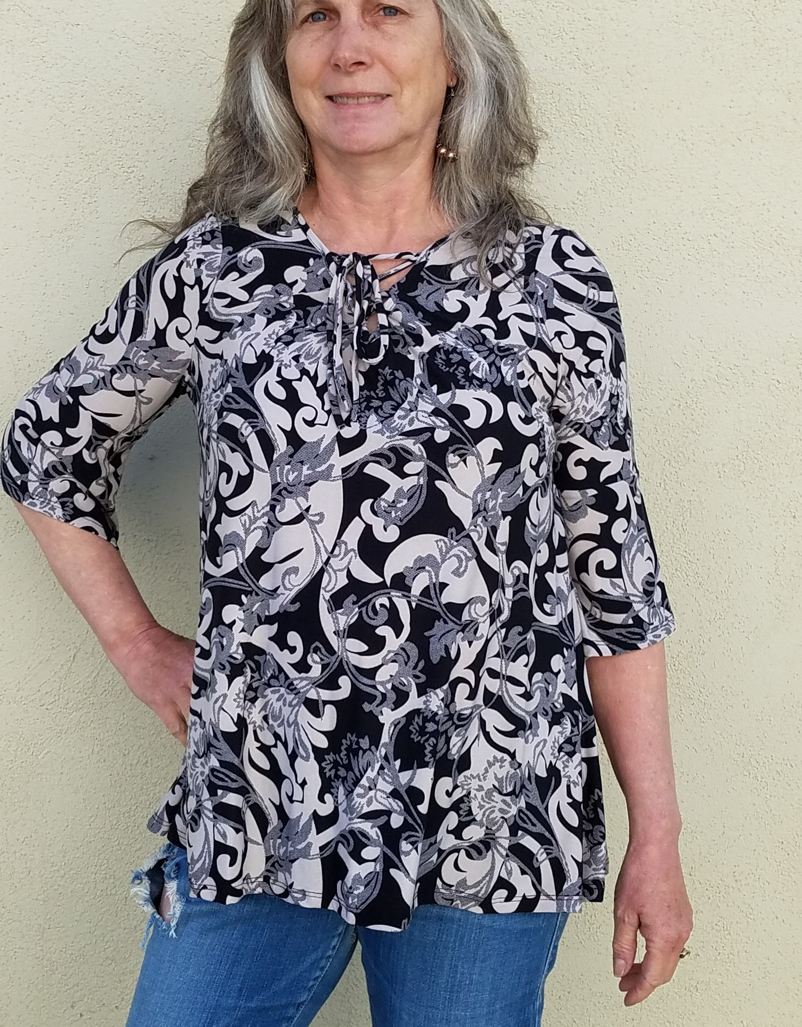 Goldspark Criss cross tie blouse
