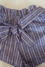2NE1 Striped Paper Bag Shorts