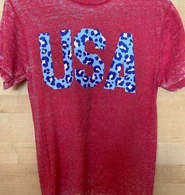USA Cheetah Print SS T-Shirt
